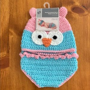 Other - Hat & diaper cover set